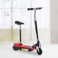 Homcom® Patinete Eléctrico Plegable E-scooter Batería 120w Manillar Asiento Ajustable Rojo