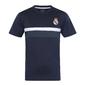 Real Madrid - Camiseta Oficial Para Entrenamiento - Poliéster - Blanco - Franja Negra - Grande