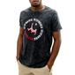 Camiseta Pieter Van Beck Crossbar Black Denim