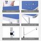 Outsunny Mesa De Ping-pong Plegable Altura Ajustable De 3 Niveles Con Palas