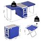 Outsunny® Nevera Termo 28l Con Ruedas Convertible En Mesa Y Sillas Plegable Para Camping Exterior