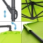 Sombrilla Parasol Con Tubo De Aluminio Y Paraguas Curvable Redondo