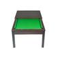 Billar Americano Convertible En Una Mesa, Viene Con Accesorios - Alfombra Verde - 217 X 125 Cm