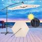 Sombrilla Parasol Con Luz Led, Protección Solar Y  Cubierta Ecd-germany