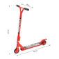 Homcom® Scooter Freestyle Scooter Patinete De Acrobacia Giratorio 360° Rojo