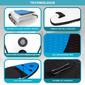 Tabla De Paddle Hinchable Blue 10' Con Inflador, Remo, Leash, Y Mochila De Transporte