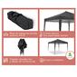 Carpa Wasabi Master 3x3m De Aluminio Plegable Con Aislamiento Térmico Negra
