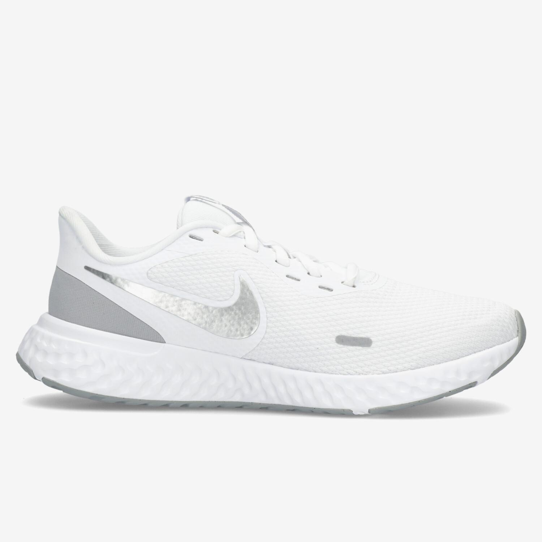 Nike Revolution 5 - Blanco - Zapatillas Running Mujer