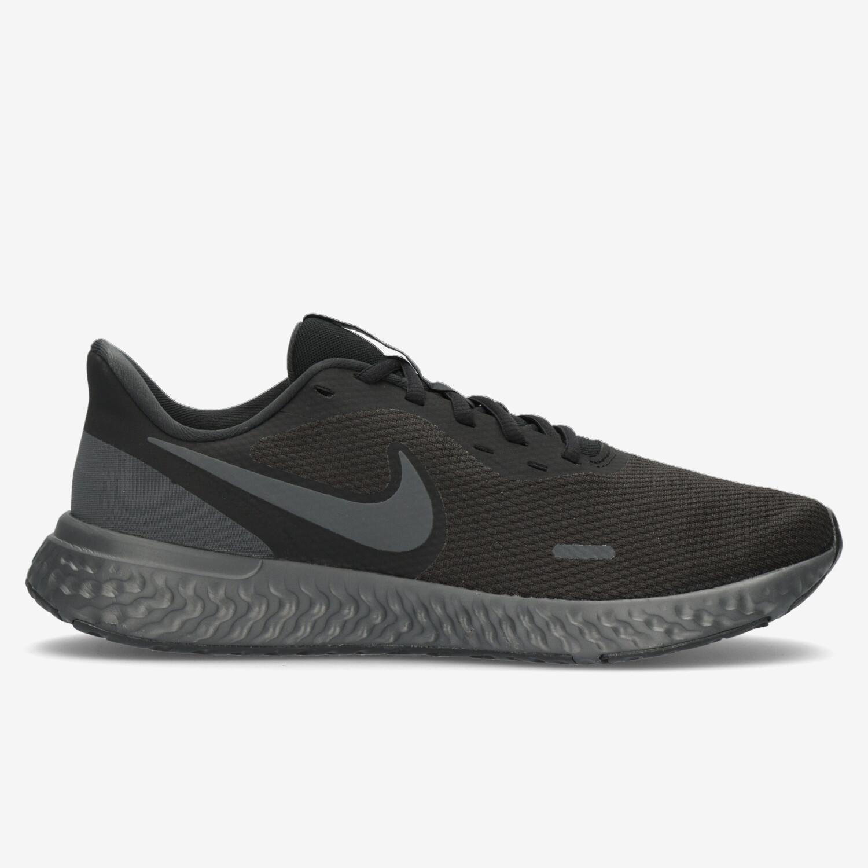Nike Revolution 5 - Negras - Zapatillas Running Hombre