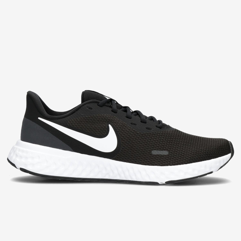 Nike Revolution 5 - Negras Zapatillas Running Hombre