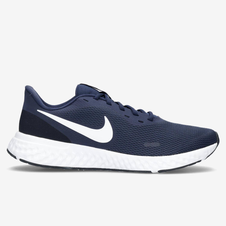 Nike Revolution 5 - Negro Zapatillas Running Hombre