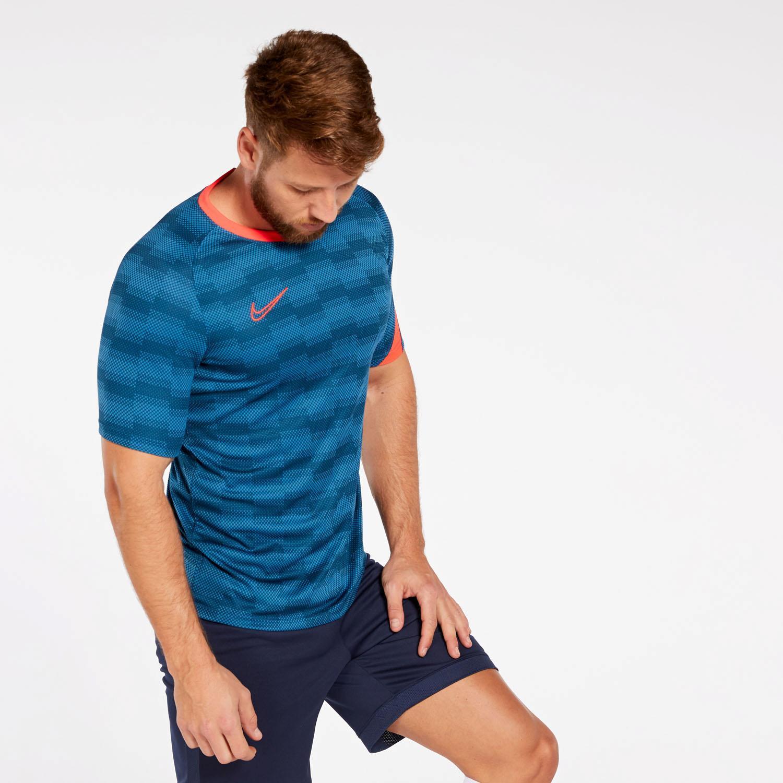 T shirt Nike Dry Academy Azul T shirt Futebol Homem | Sport Zone