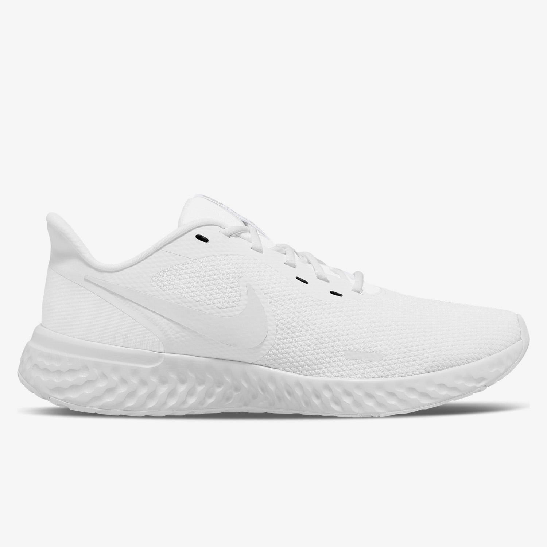 Nike Revolution 5 - Blancas - Zapatillas Running Hombre