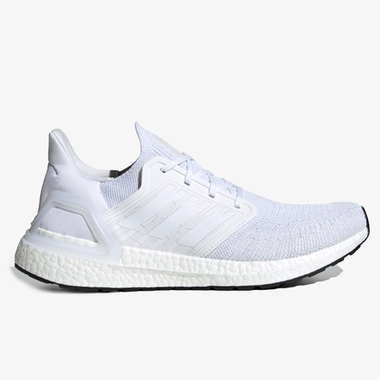 adidas Ultraboost 20 - Blancas - Zapatillas Running Hombre