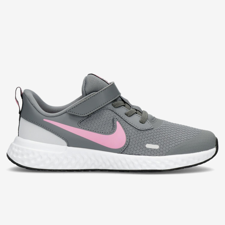 Nike Revolution 5 - Gris - Zapatillas Running Niña