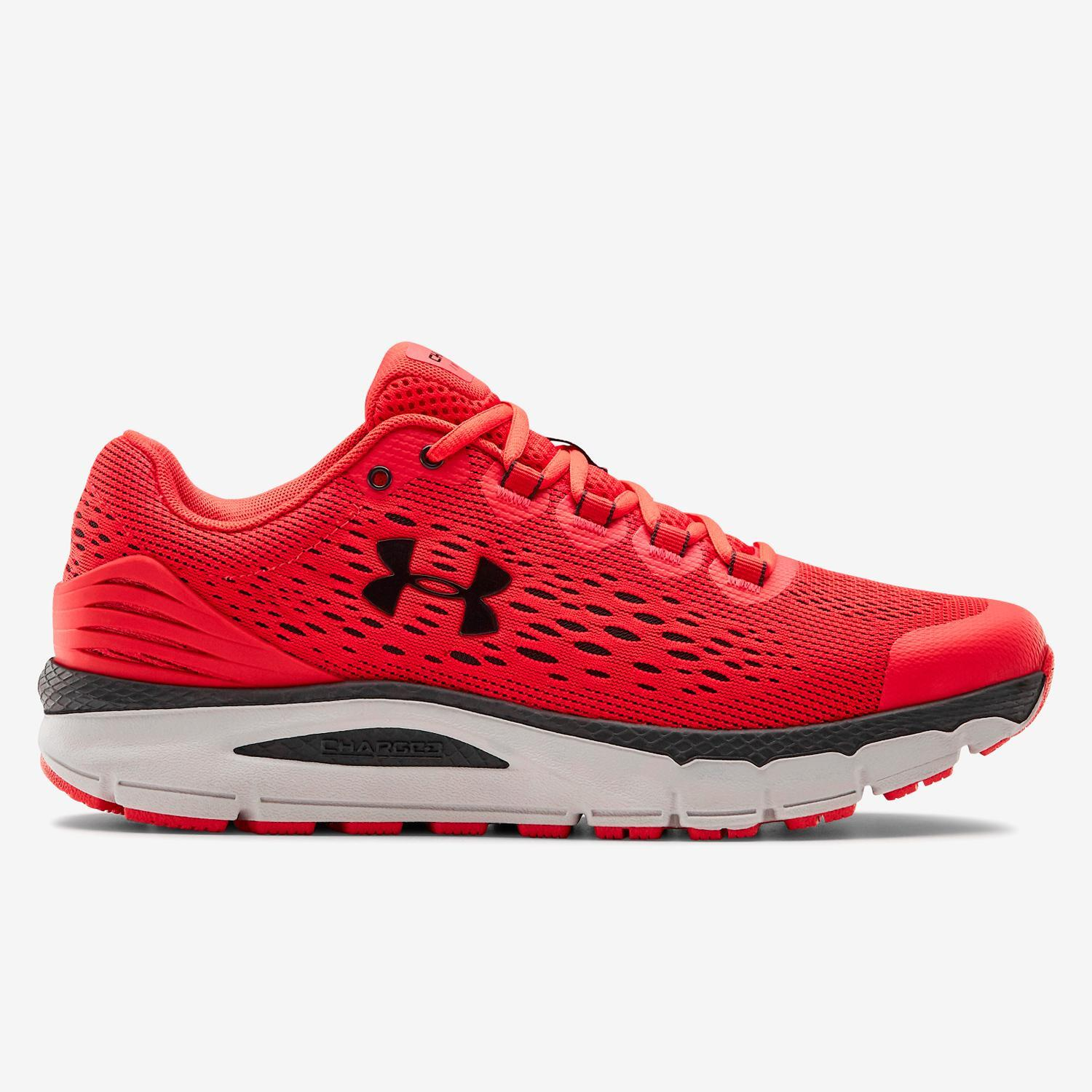 Under Armour Charged Intake 4 - Rojo - Zapatillas Running Hombre