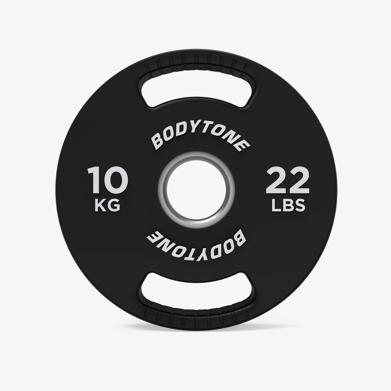 Disco 10 Kg Bodytone - Negro - Pesas talla T.U.