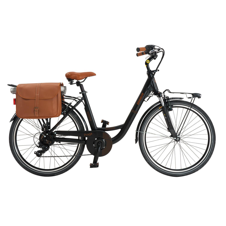 QÜER - Bicicleta Elétrica Qüer Praga - Preto - Bicicleta 26 6V tamanho T.U.