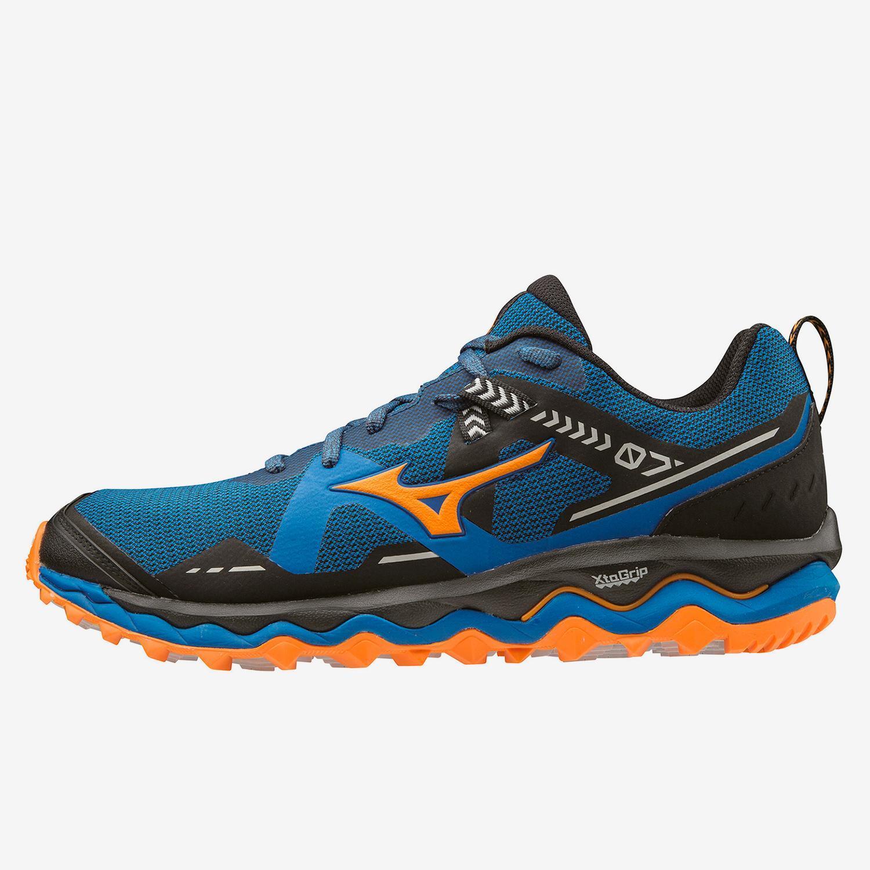 Mizuno Wave Mujin 7 Azul - Zapatillas Trail Hombre