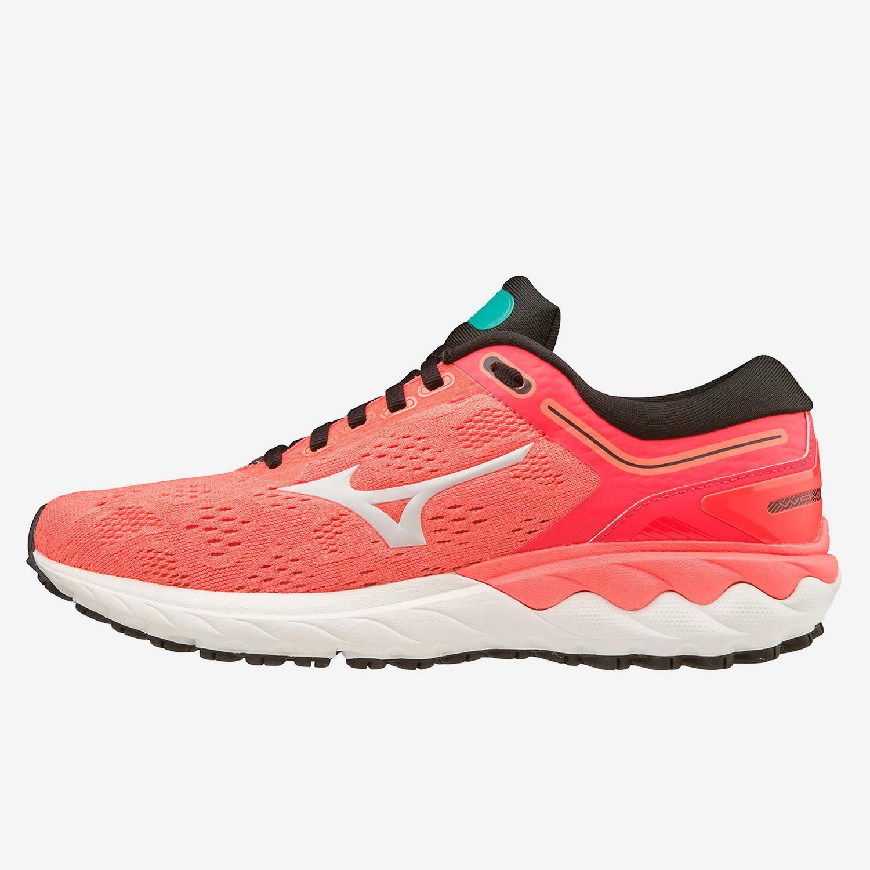 Mizuno Wave Skyrise Coral - Zapatillas Running Mujer