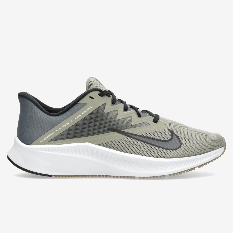 Nike Quest 3 - Kaki - Zapatillas Running Hombre