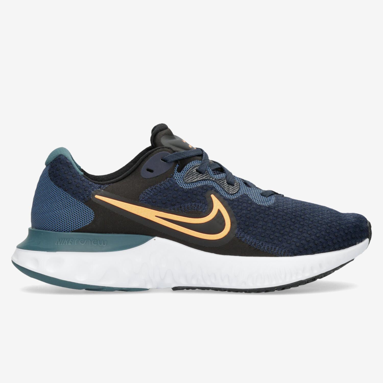 Nike Renew Run 2 - Marino - Zapatillas Running Hombre