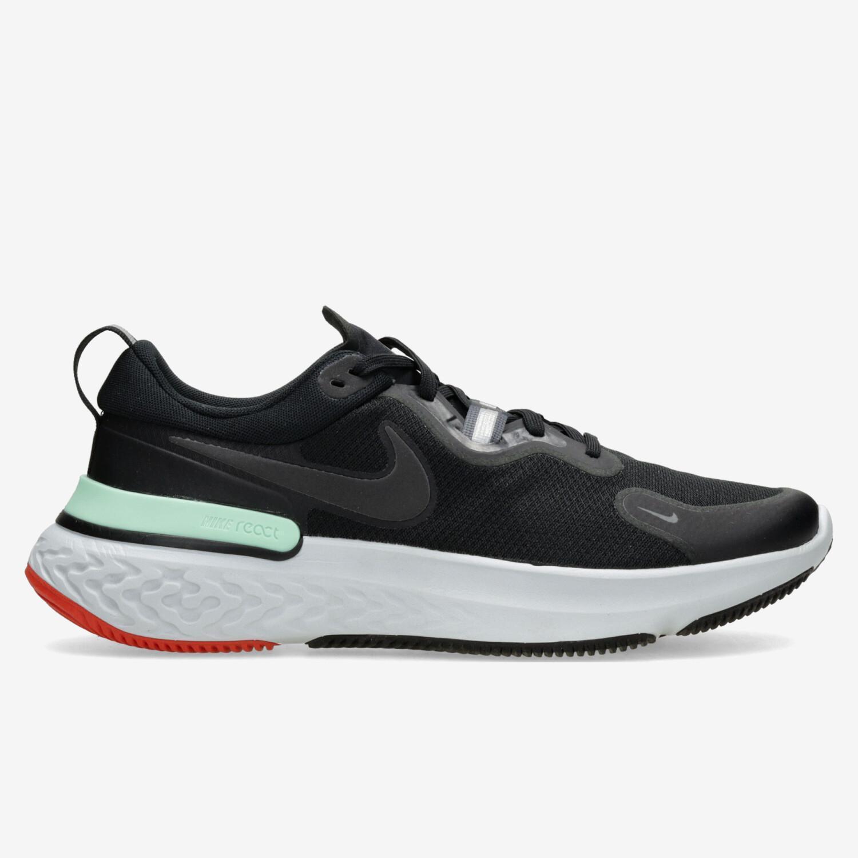 Nike React Miler - Negro - Zapatillas Running Hombre