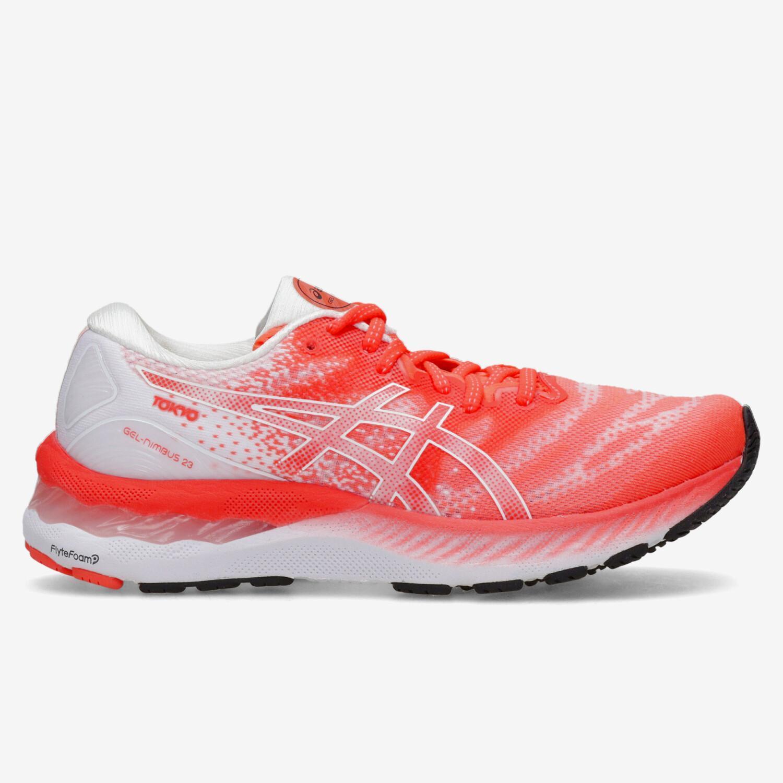 Asics Gel Nimbus 23 - Coral - Zapatillas Running Mujer