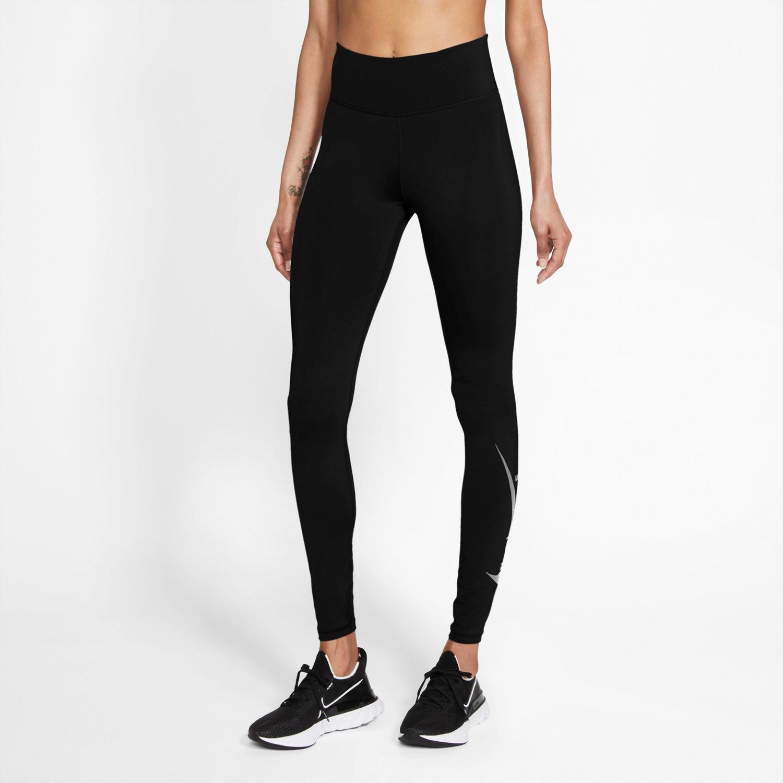 Nike Swoosh - Negras - Mallas Running Mujer