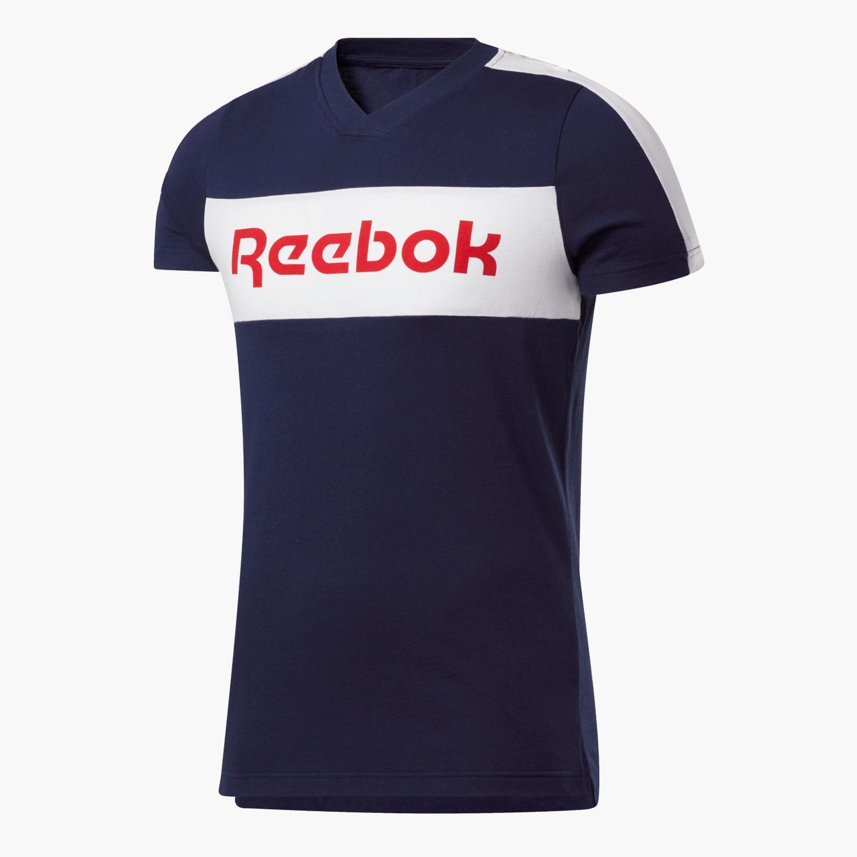 Reebok Linear - Marino - Camiseta Hombre
