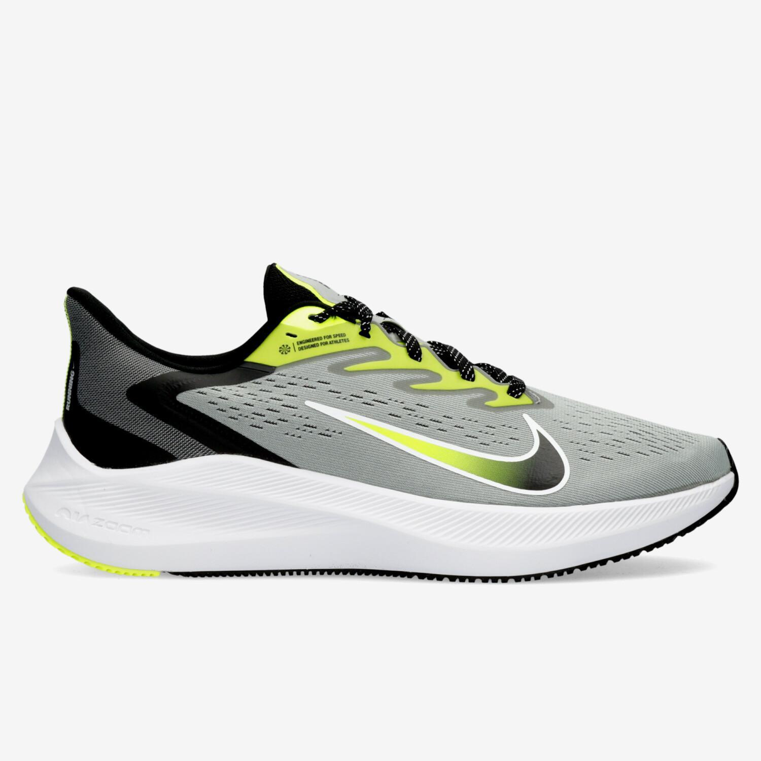 Nike Air Zoom Winflo 7 - Gris - Zapatillas Running Hombre