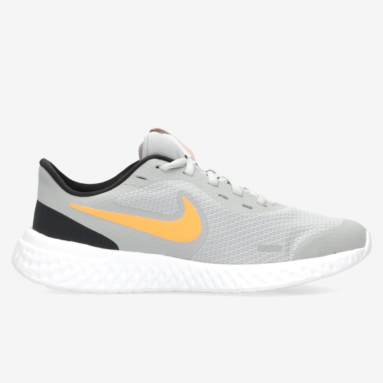 Nike Revolution 5 - Gris - Zapatillas Running Chico