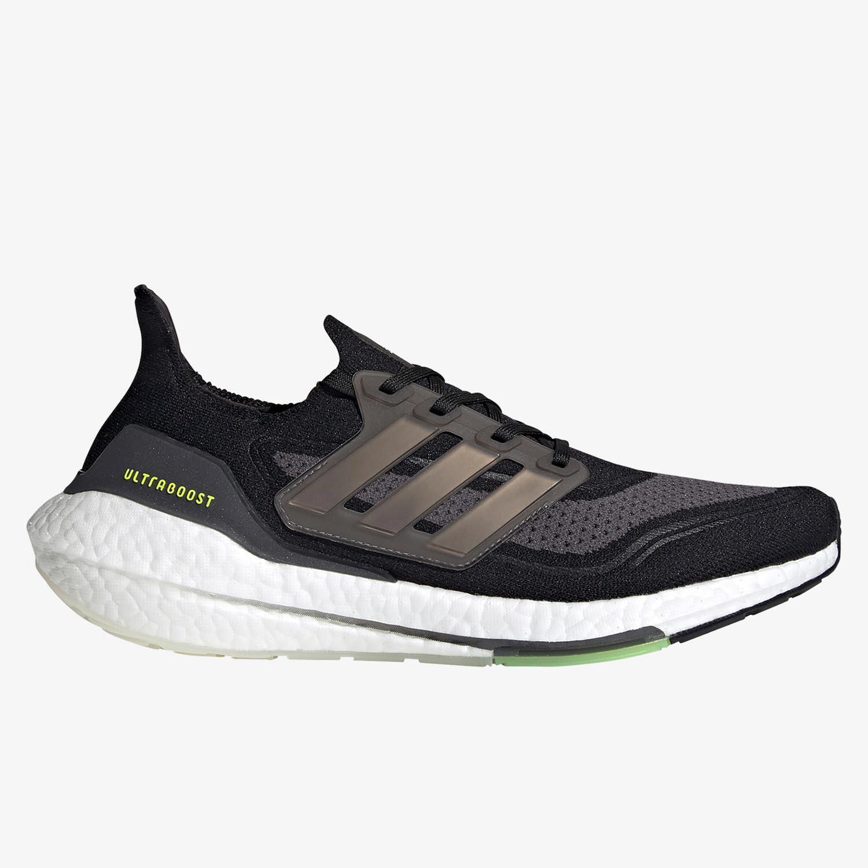 adidas Ultraboost 21 - Negras - Zapatillas Running Hombre