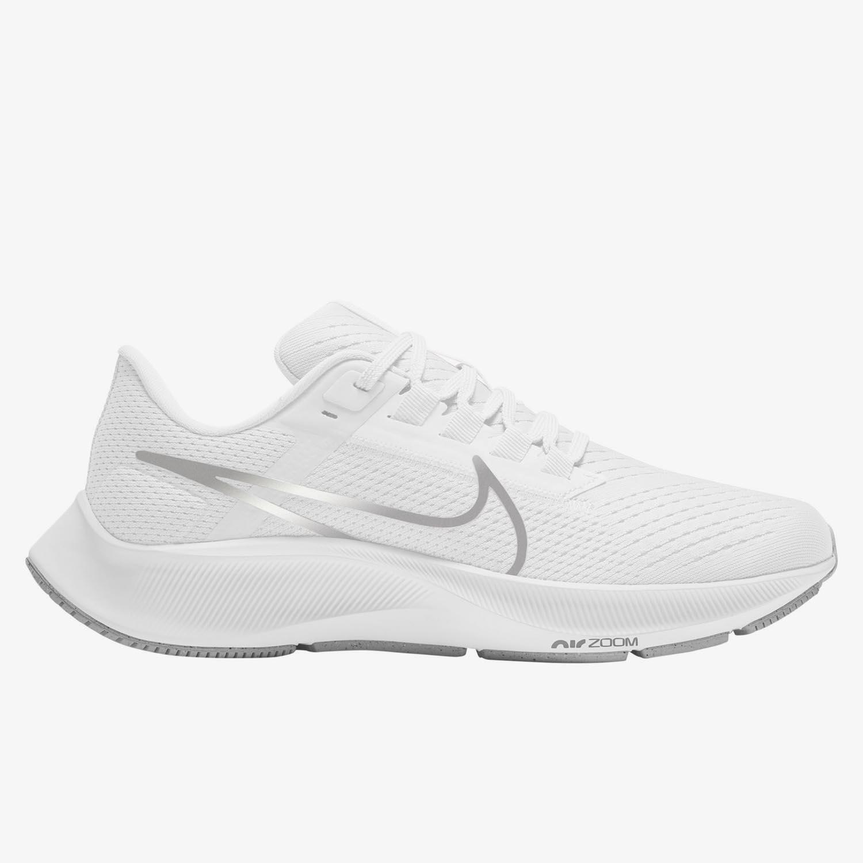 Nike Air Zoom Pegasus 38 - Blancas - Zapatillas Running Mujer