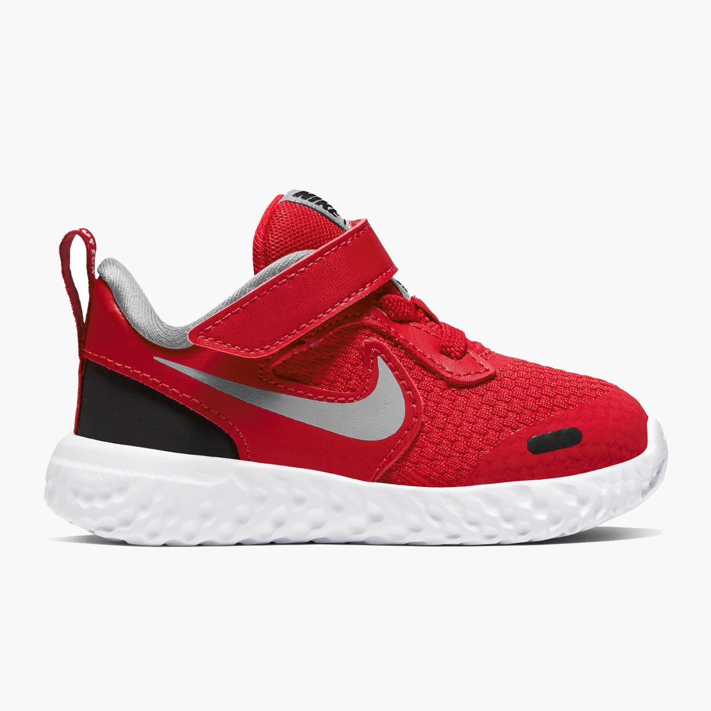 Nike Revolution 5 - Rojo - Zapatillas Velcro Niño