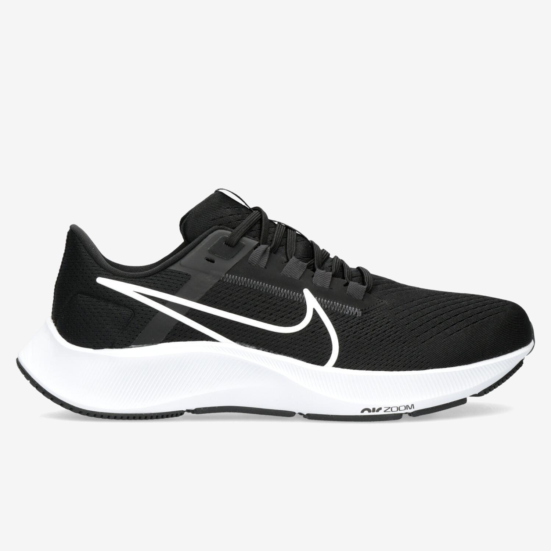 Nike Air Zoom Pegasus 38 - Negras - Zapatillas Running Hombre