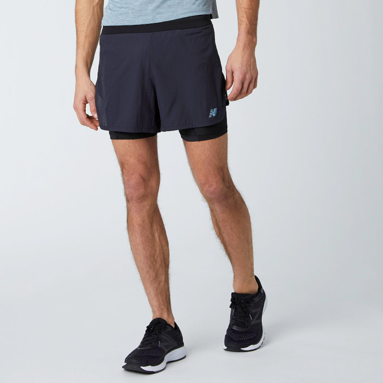New Balance Speed - Negro - Pantalón Running Hombre