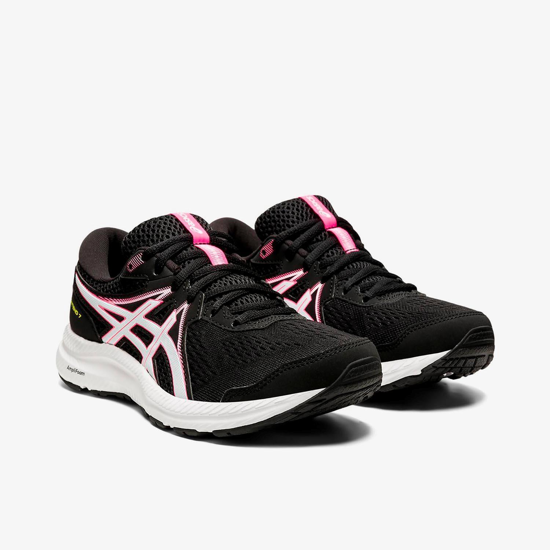 Asics Gel-Contend 7 - Negras - Zapatillas Running Mujer