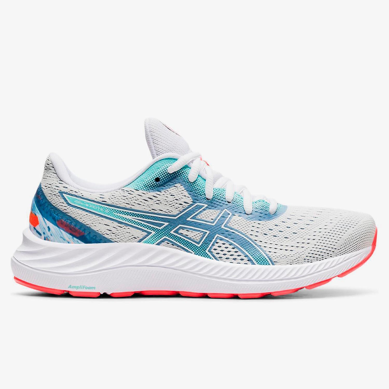 Asics Gel-Excite 8 - Blancas - Zapatillas Running Mujer