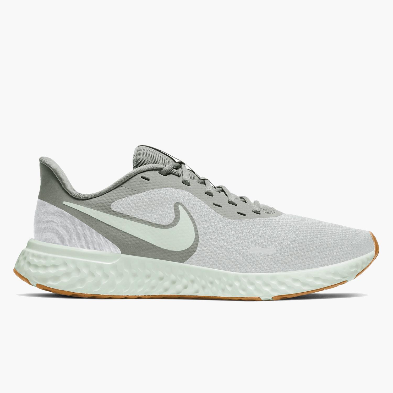 Nike Revolution 5 - Gris - Zapatillas Running Hombre