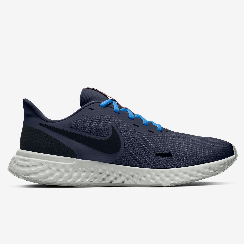 Nike Revolution 5 - Marino - Zapatillas Running Hombre