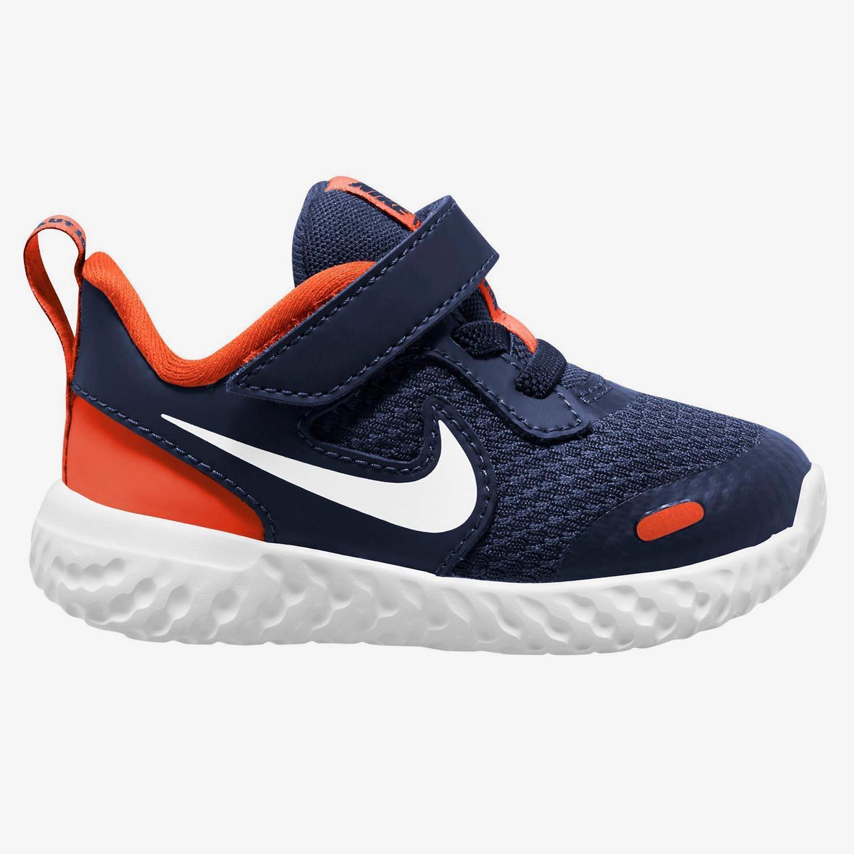 Nike Revolution 5 - Marino - Zapatillas Velcro Niño