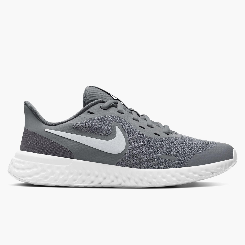 Nike Revolution 5 - Grises - Zapatillas Running Chico
