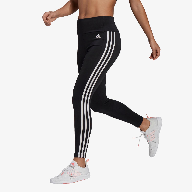 adidas 3S - Negro - Mallas Fitness Mujer