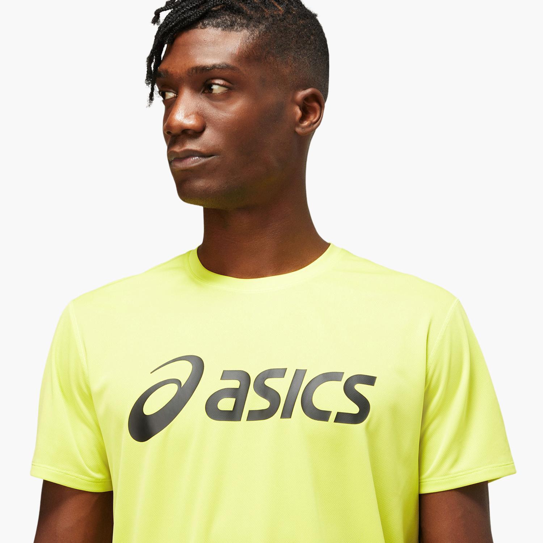 Asics Core Logo - Amarilla - Camiseta Running Hombre