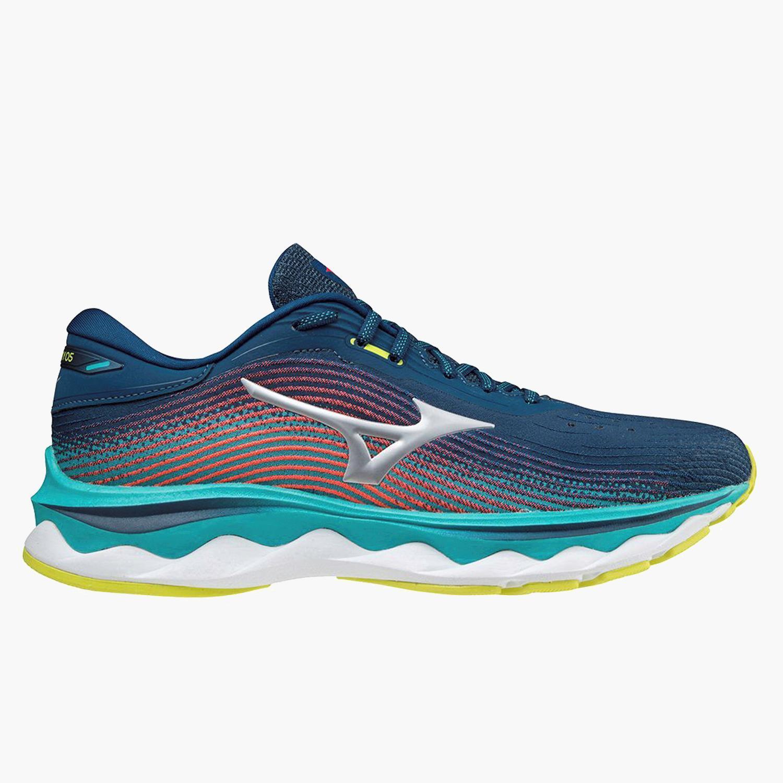 Mizuno Wave Sky 5 - Azul - Zapatillas Running Hombre