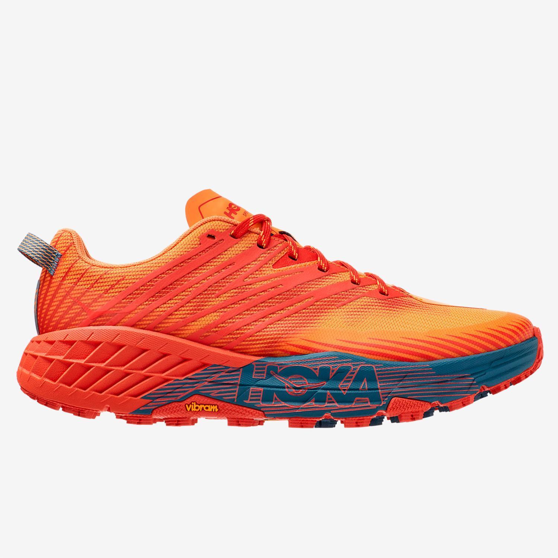Hoka Speedgoat 4 - Naranja - Zapatillas Trail Hombre