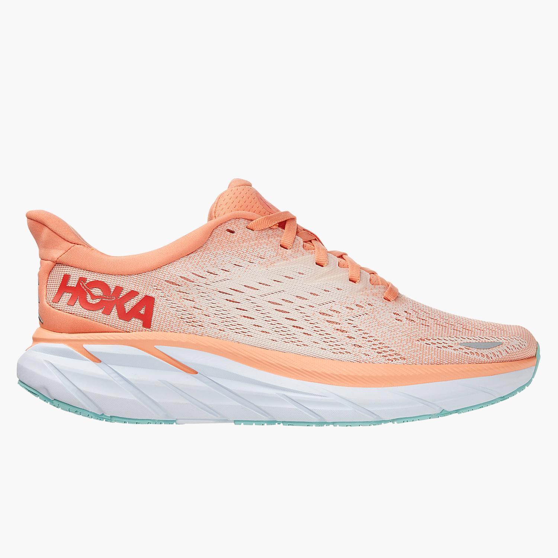 Hoka Clifton 8 - Naranja - Zapatillas Running Mujer
