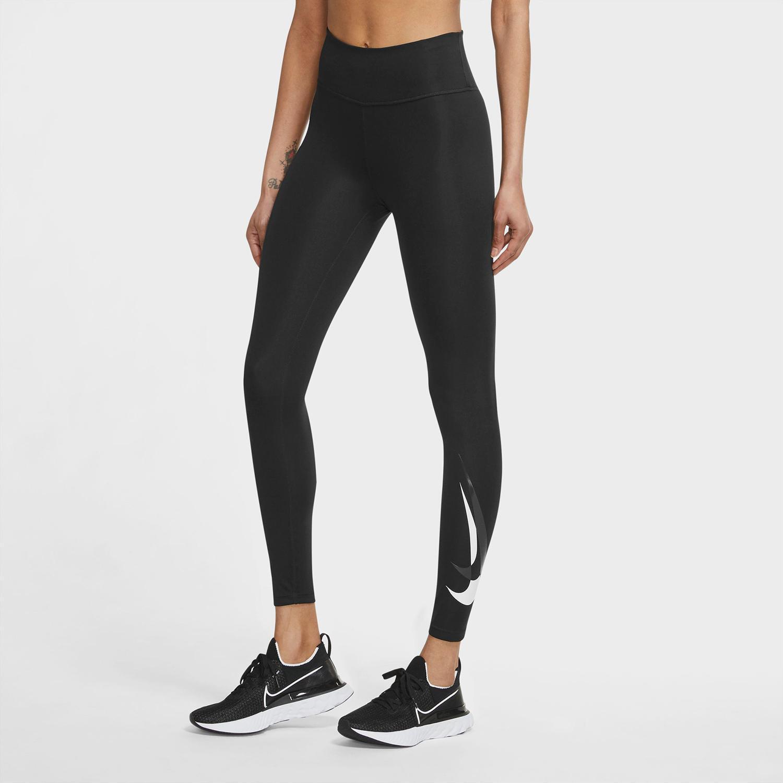 Nike Swoosh Run - Negro - Mallas Running Mujer
