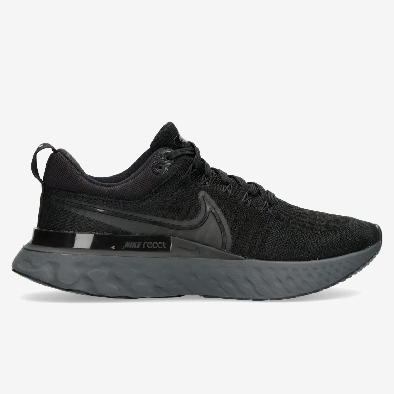 Nike React Infinity Run Flyknit 2 - Negras - Zapatillas Running Hombre